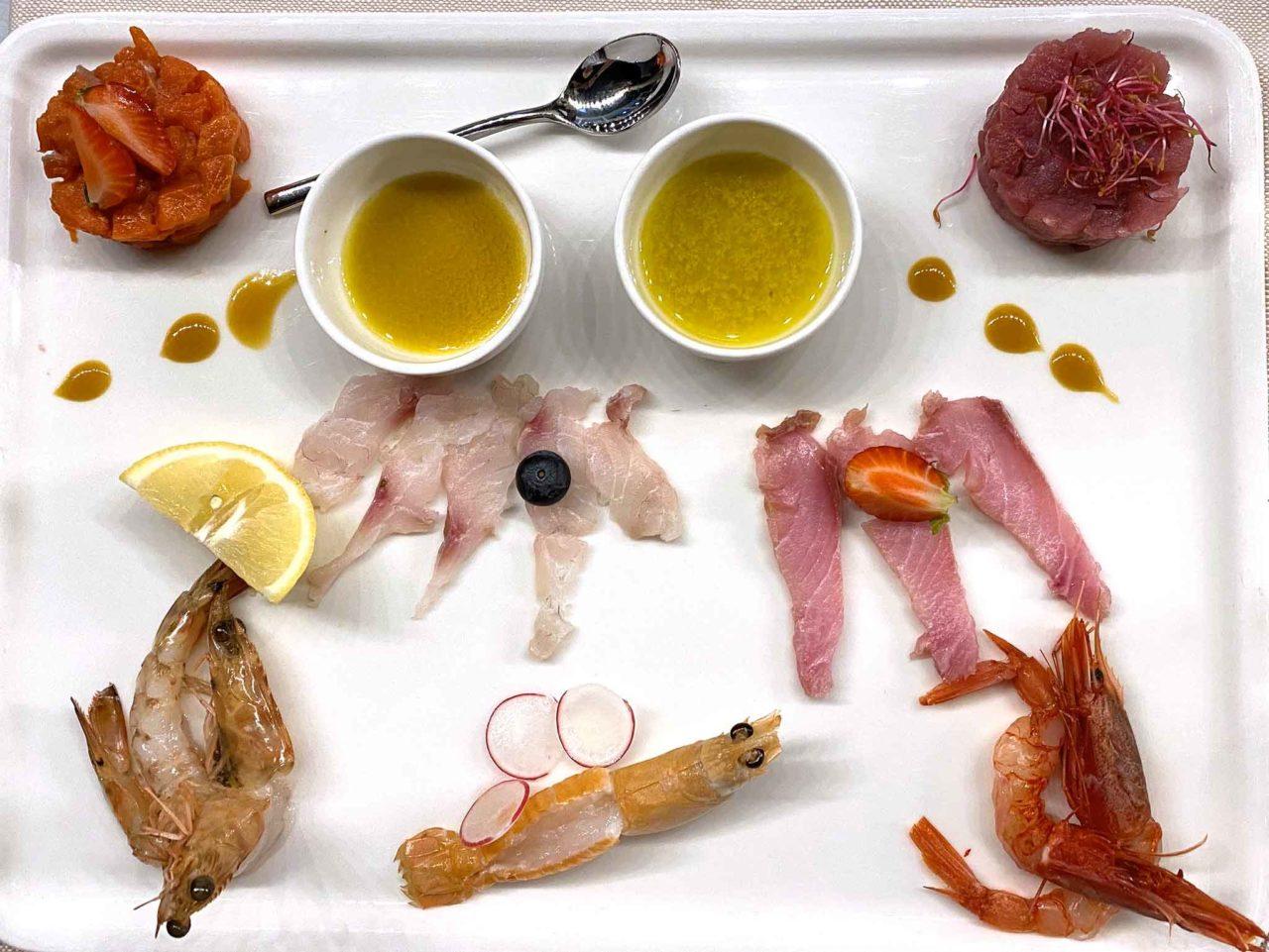 crudo di mare Rimini GB restaurant hotel Baldinini