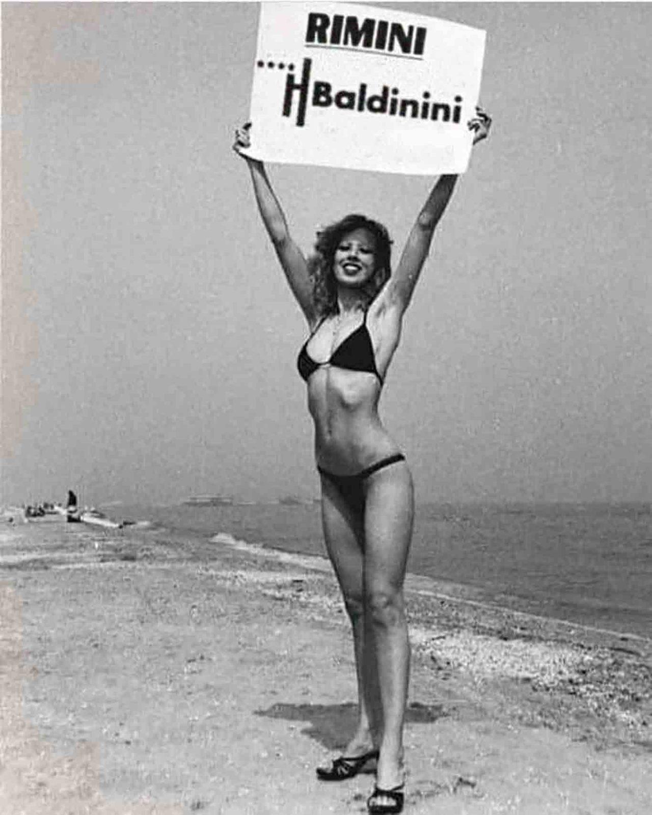 Rimini spiaggia mare vintage