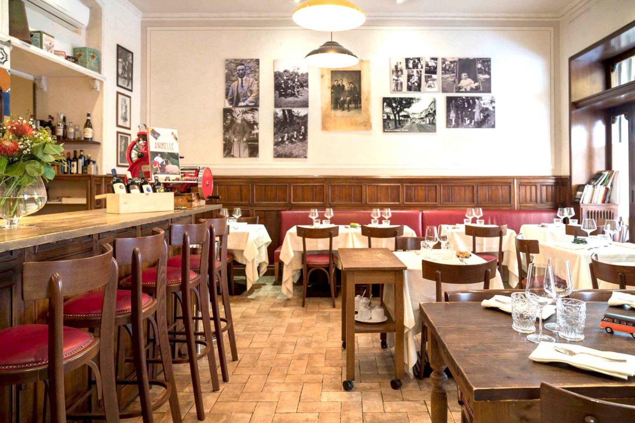 Gli interni di L'Arcangelo ristorante a via Belli a Roma