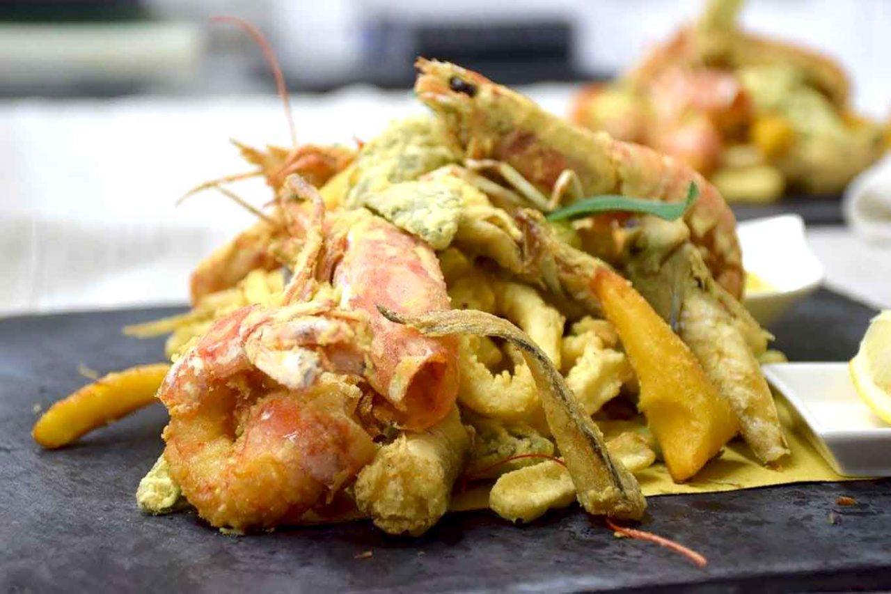 ristoranti di mare con frittura di paranza