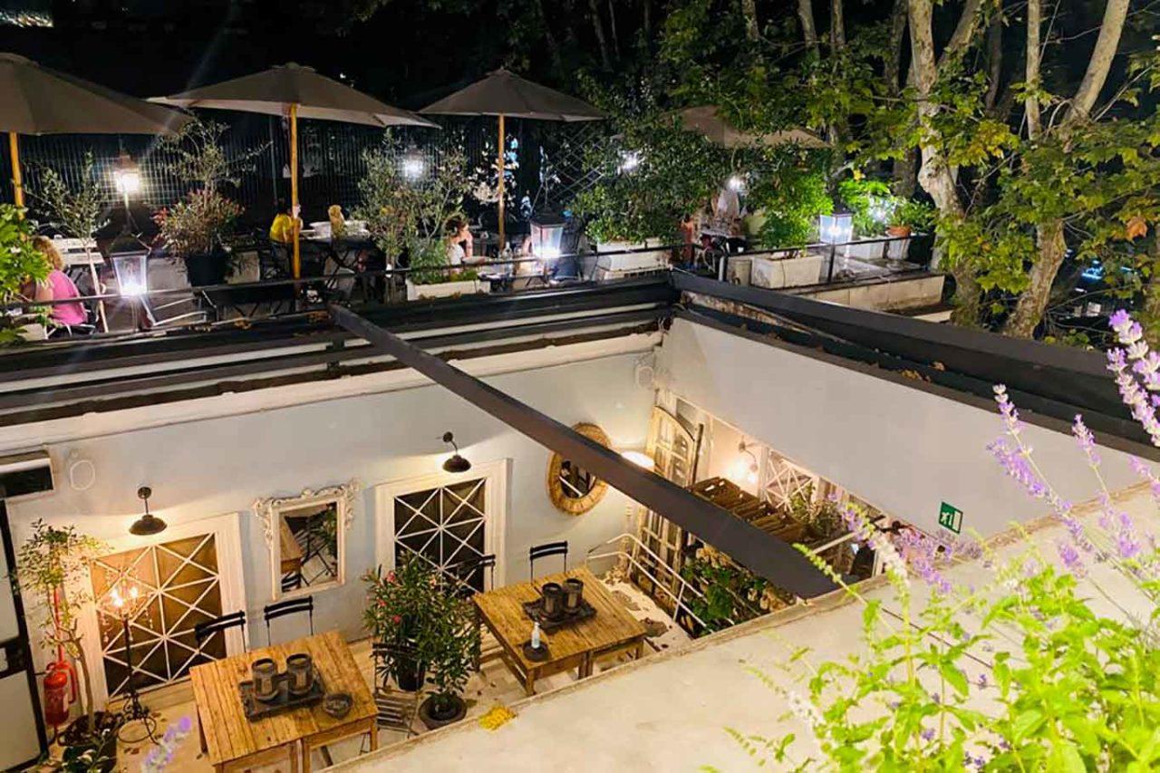 dehors ristorante Angelina Roma giardino inverno e terrazza
