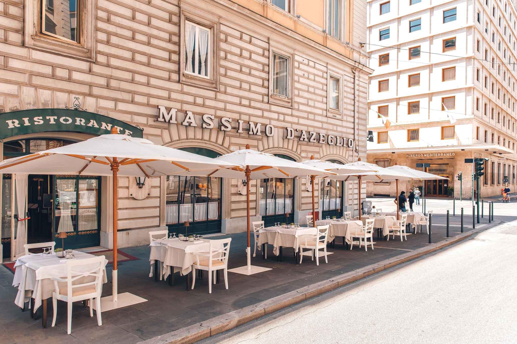 dehors ristorante massimo d'azeglio roma