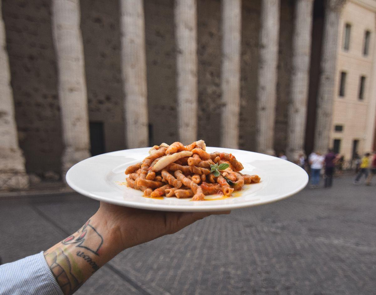 piatto di pasta a Roma
