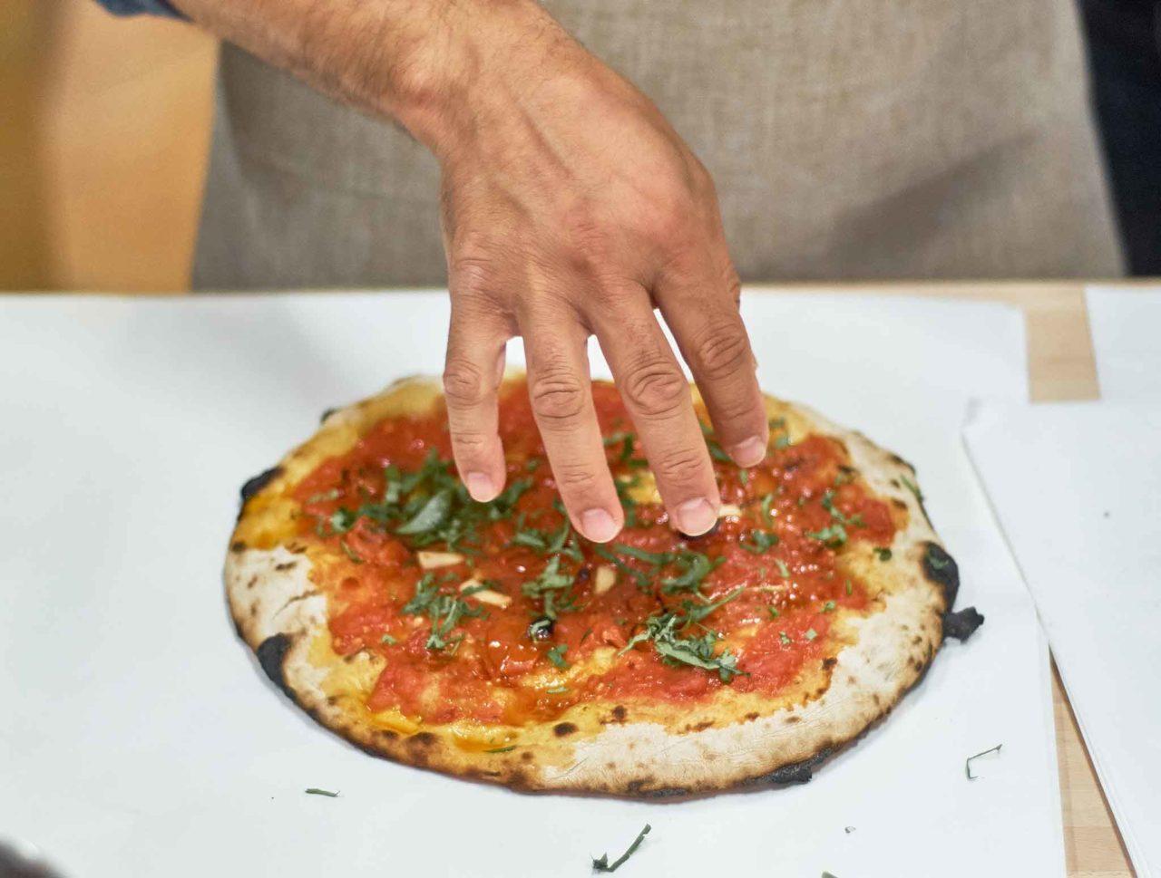 pizza a portafoglio marinara Crosta Lab