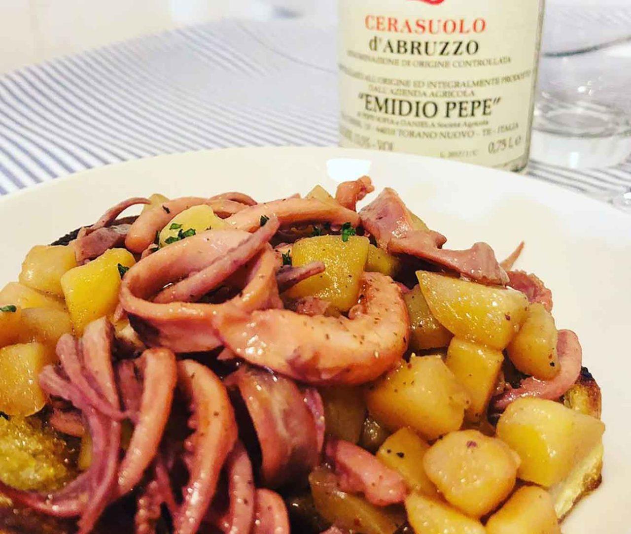 totani e patate ristorante di mare a Sperlonga