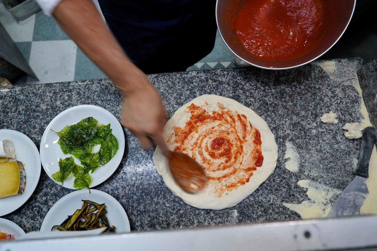 stesura pomodoro pizza
