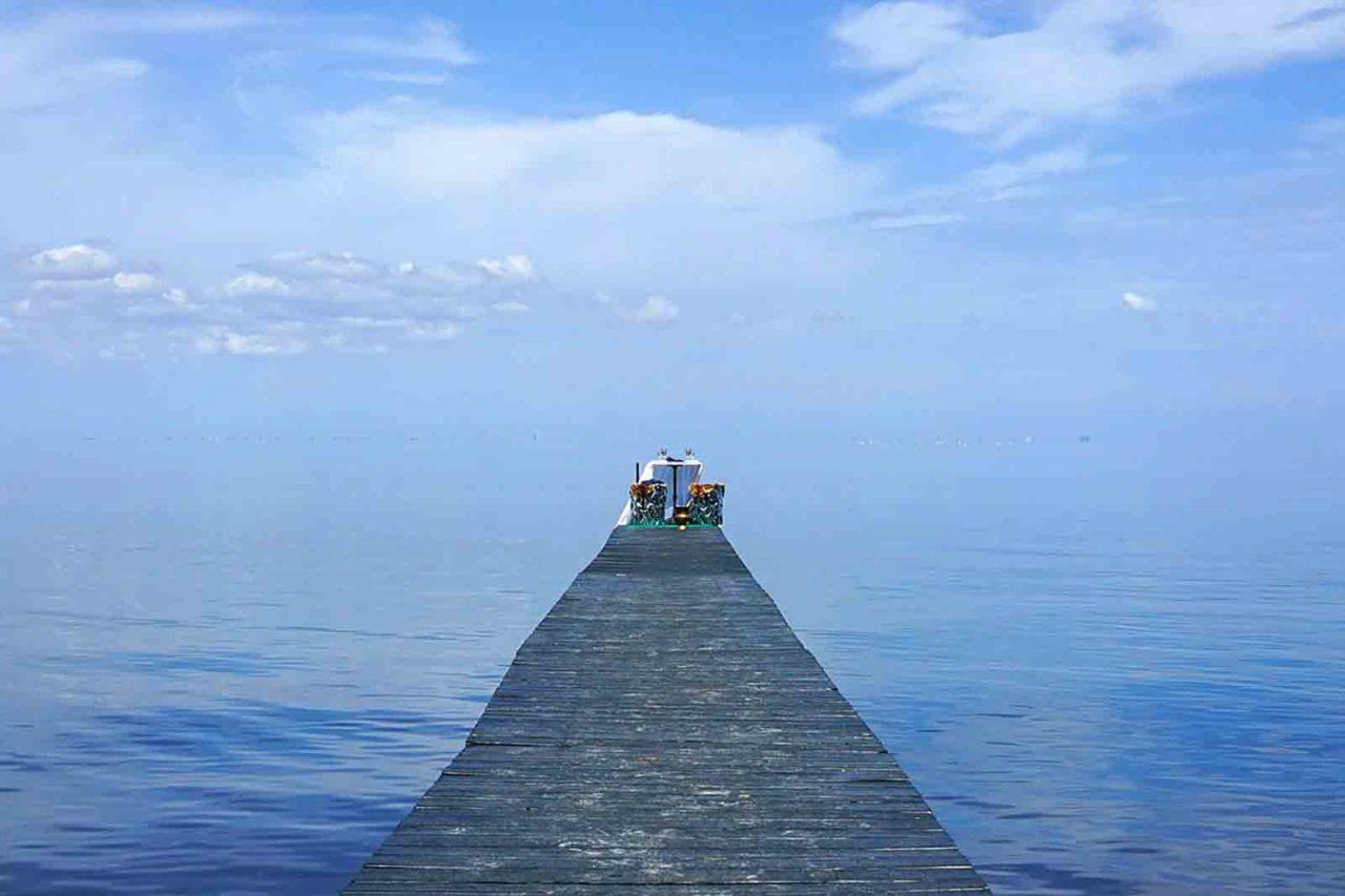 tavolo sul lago Nowhere