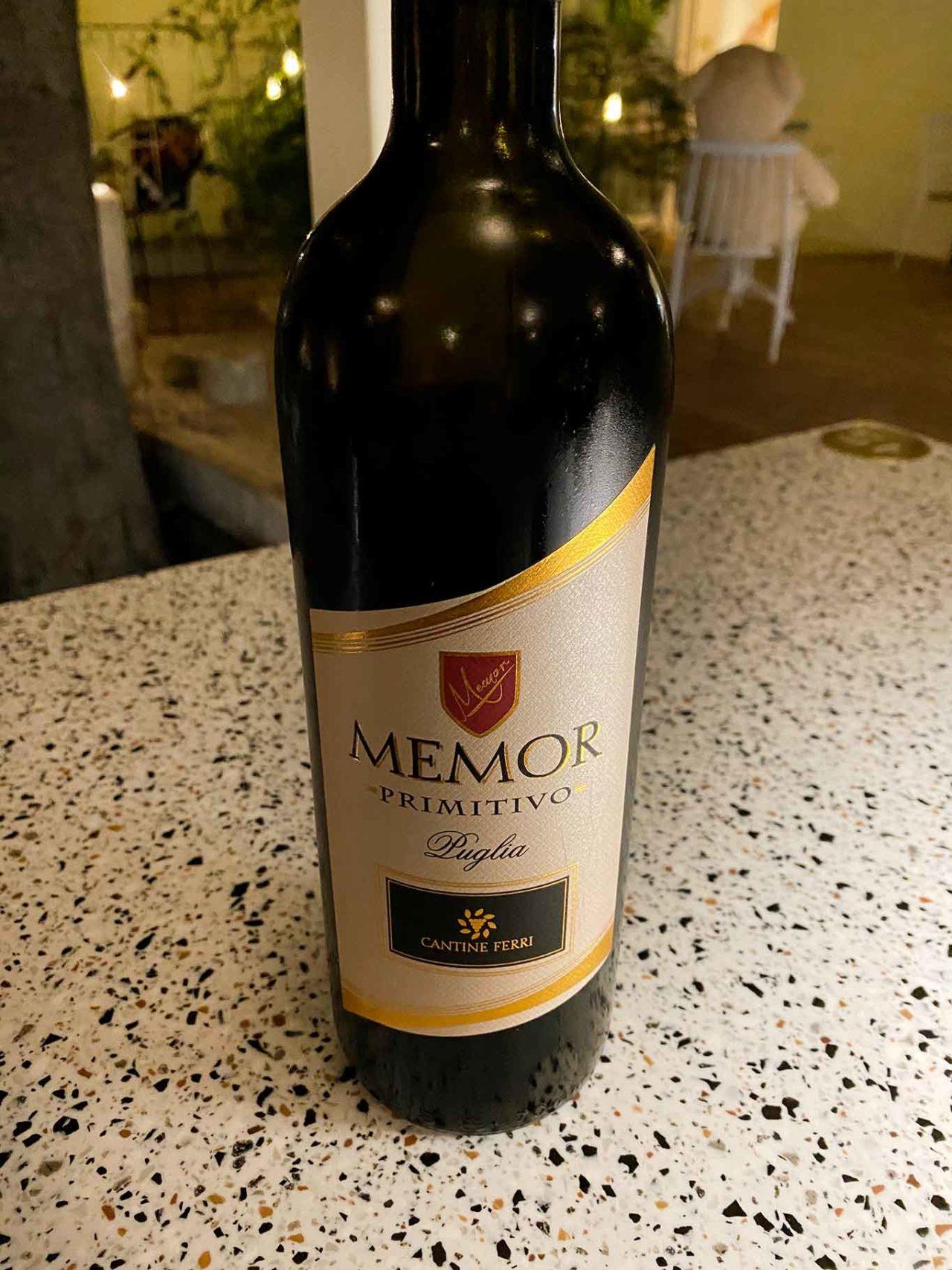 vino Memor Primitivo cantine Ferri