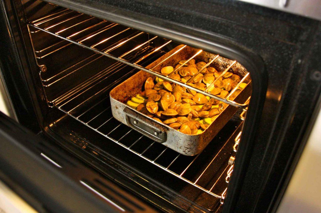 vongole e zucchine in forno