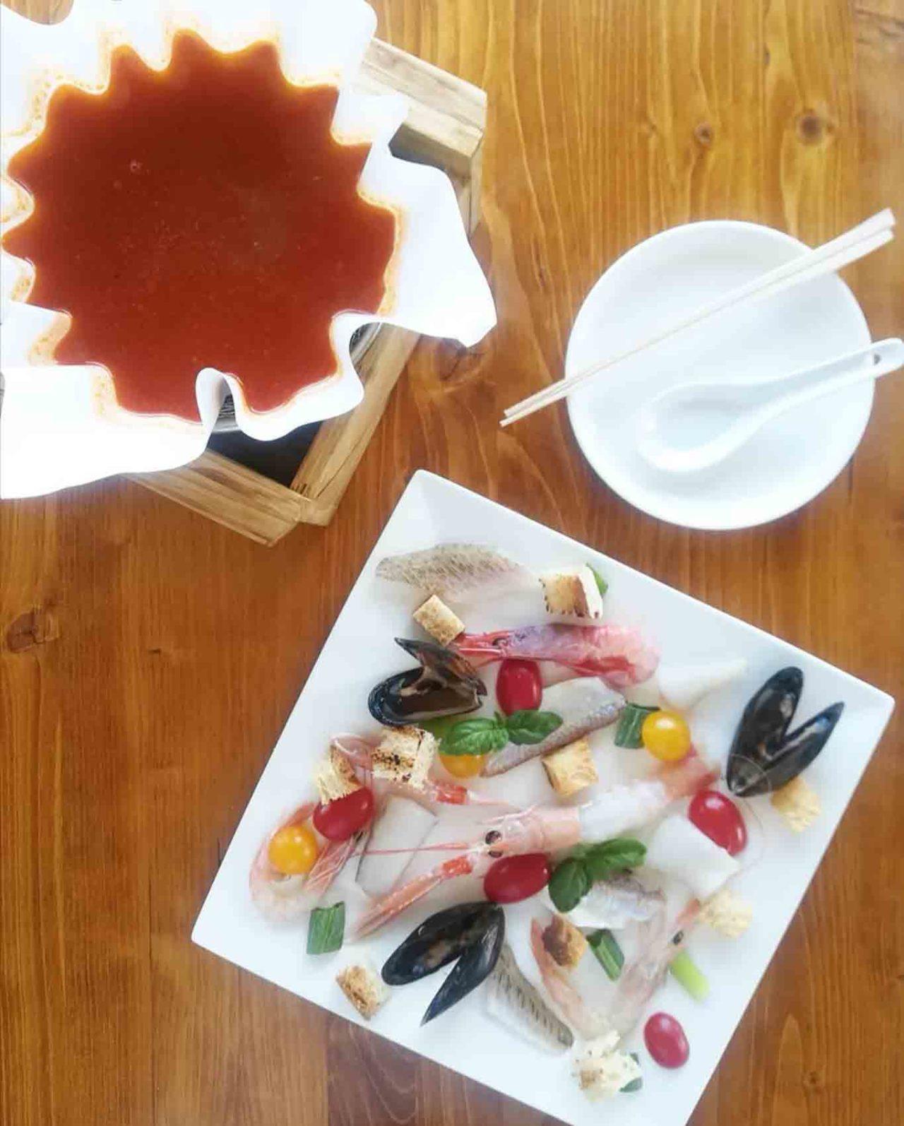 Trabucchi in Puglia: zuppa fai da te trabucco da Mimì Gargano