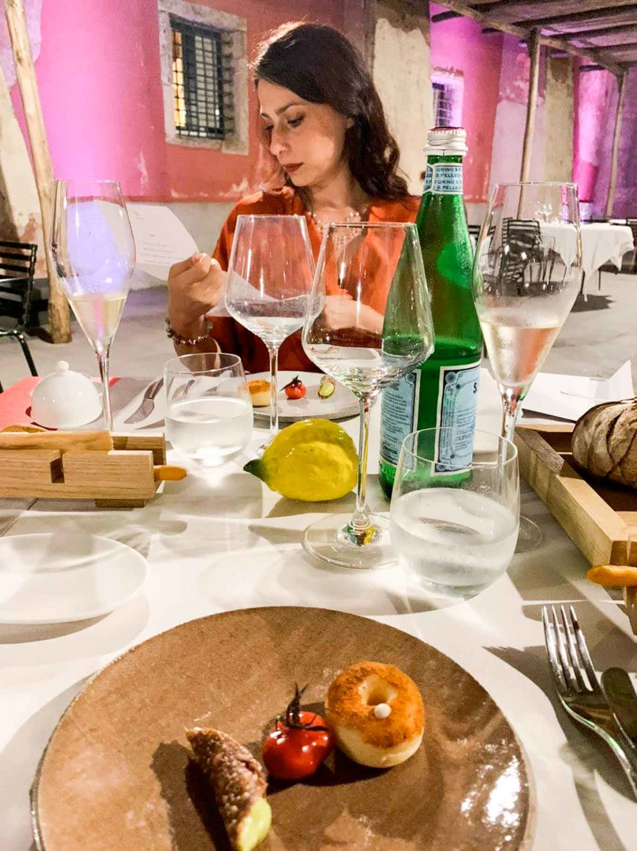 Casa Coloni ristorante Paestum a tavola
