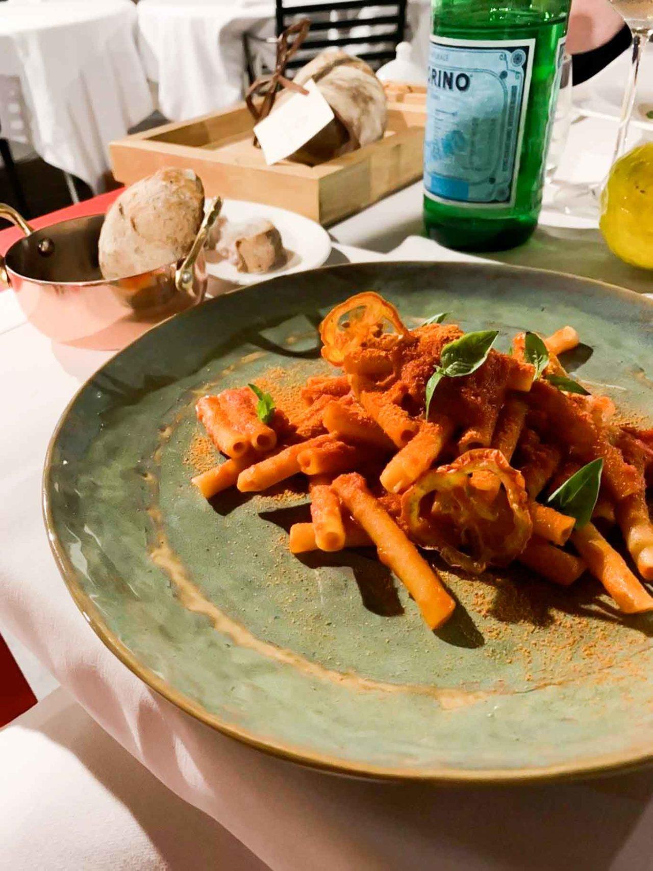 Casa Coloni ristorante Paestum ziti al pomodoro