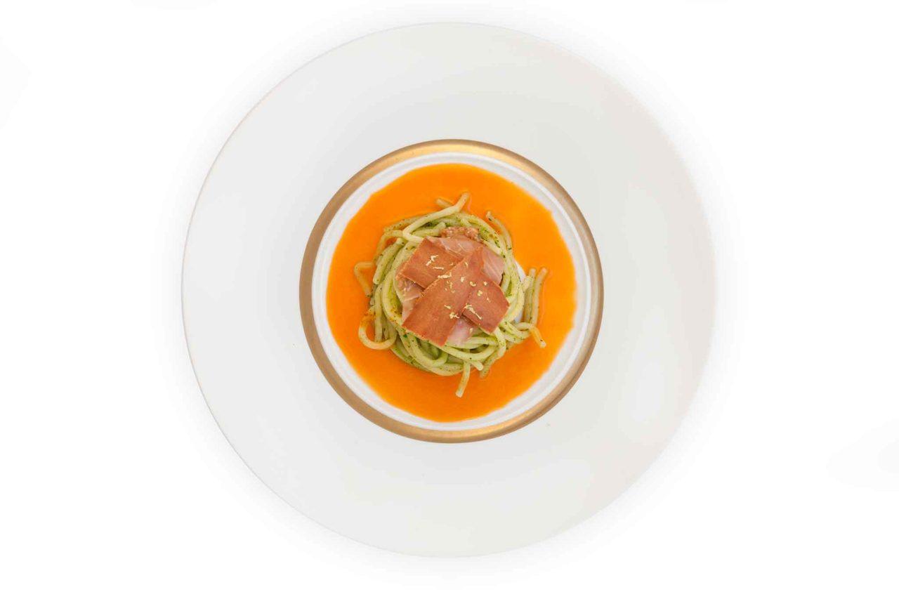 Ciccio Sultano ristorante Duomo Ragusa spaghetti in salsa moresca
