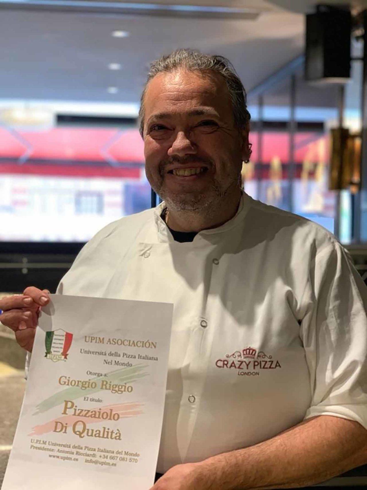 Giorgio Riggio pizzaiolo di Flavio Briatore
