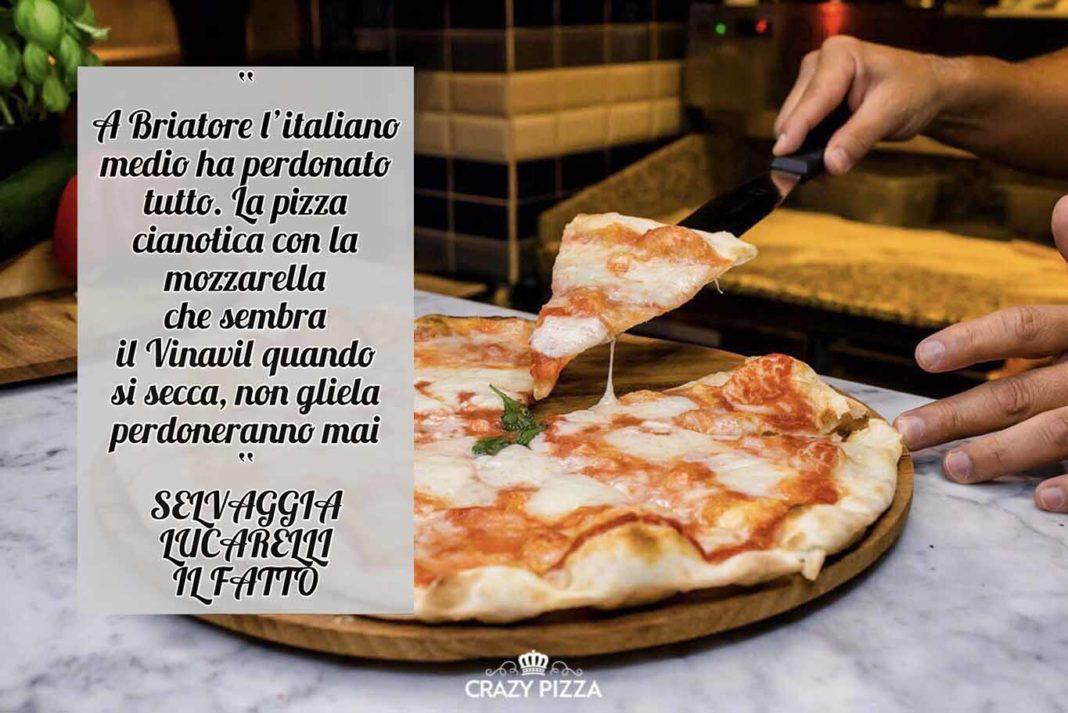 Selvaggia Lucarelli critica la pizza di Flavio Briatore