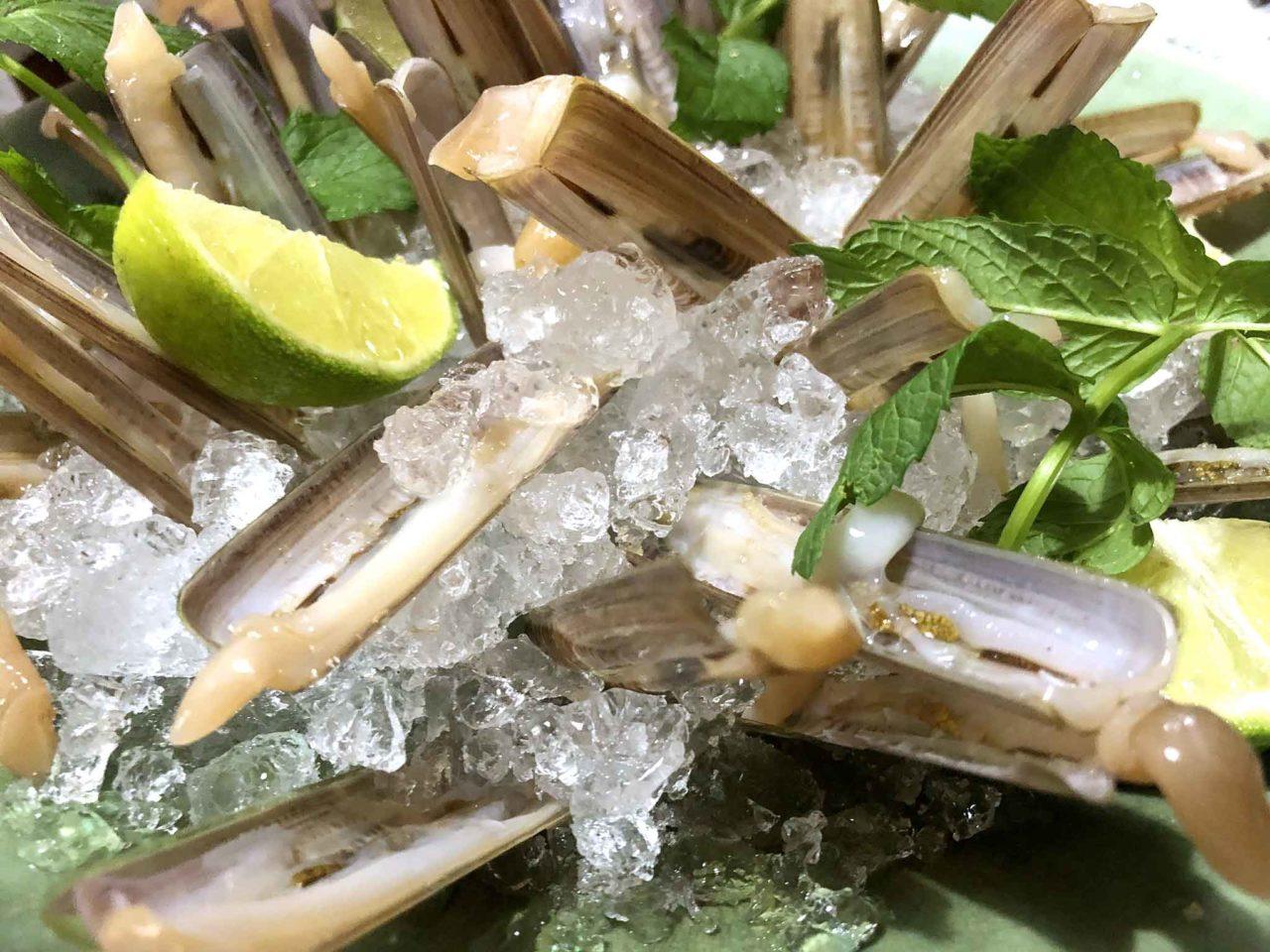 Street Stritt ristorante di pesce a Casal Velino Marina in Cilento cannolicchi