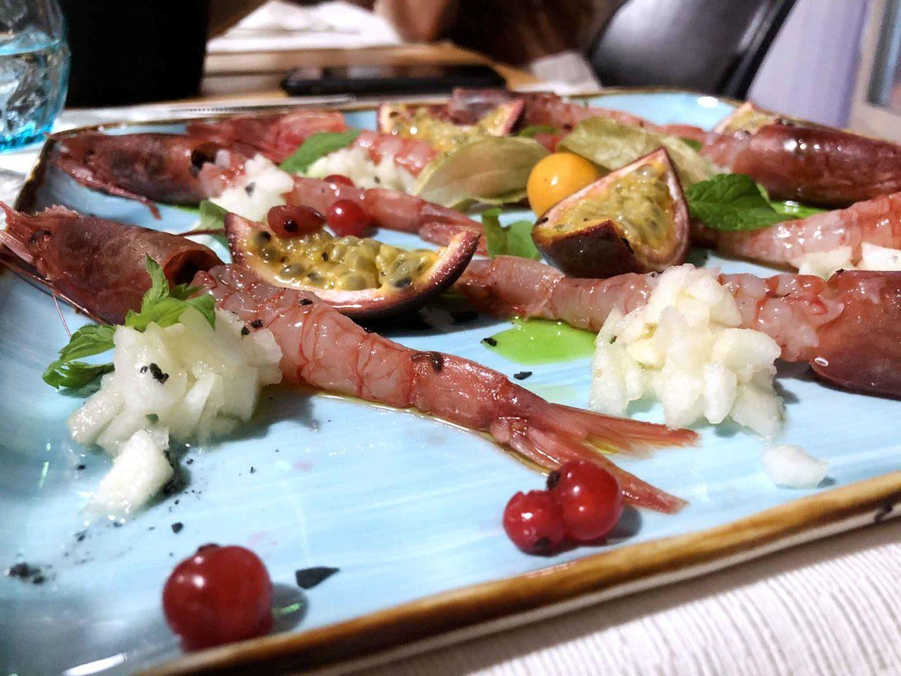 Street Stritt ristorante di pesce a Casal Velino Marina in Cilento gamberi