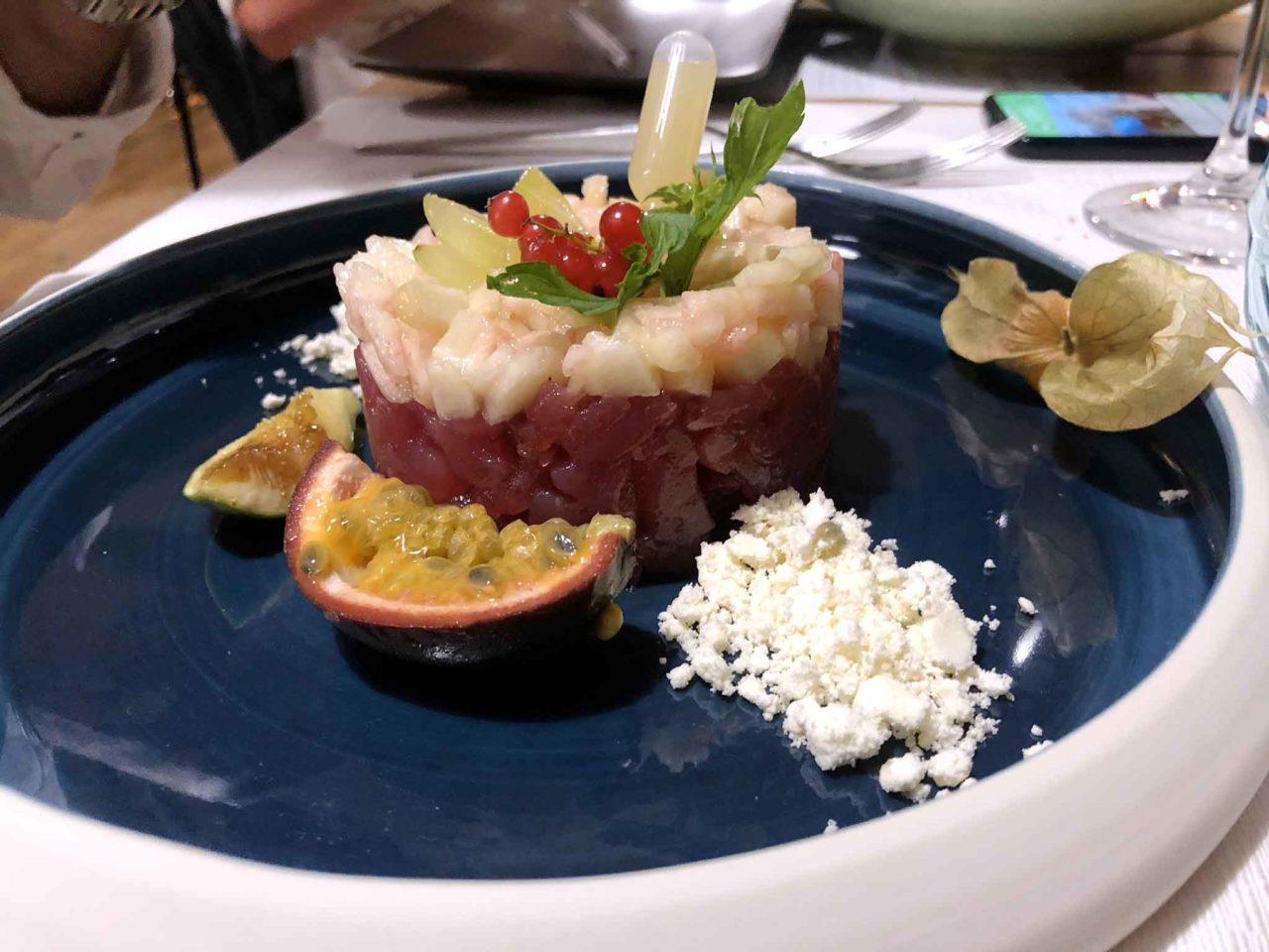 Street Stritt ristorante di pesce a Casal Velino Marina in Cilento tartare di tonno