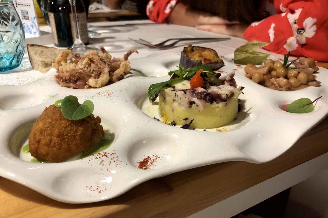 Street Stritt ristorante di pesce a Casal Velino Marina in Cilento antipasti