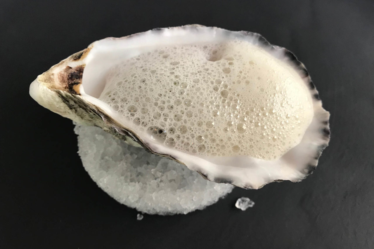 Lago di Garda ristorante Tancredi tartare ostrica tonno