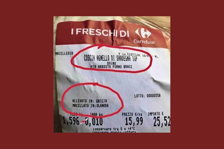agnello di sardegna IGP allevato Grecia macellato Olanda
