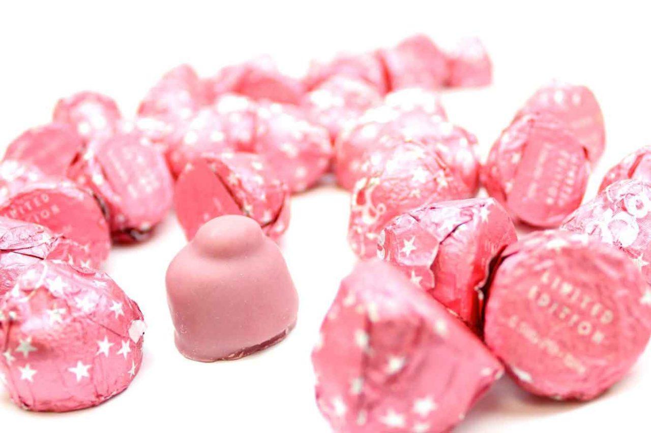 bacio perugina ruby fave cacao rosa