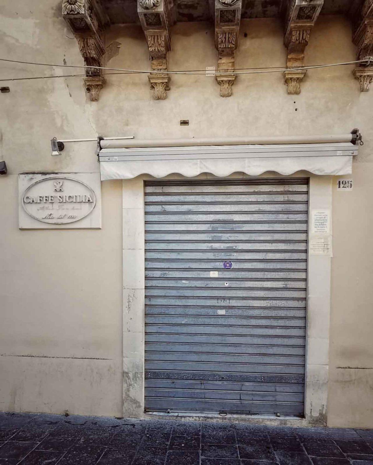Caffè Sicilia Noto chiuso