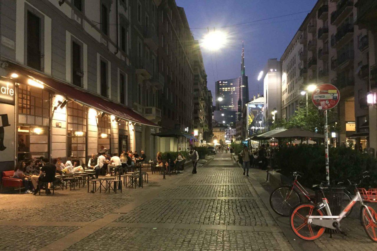 Corso garibaldi Milano ad agosto