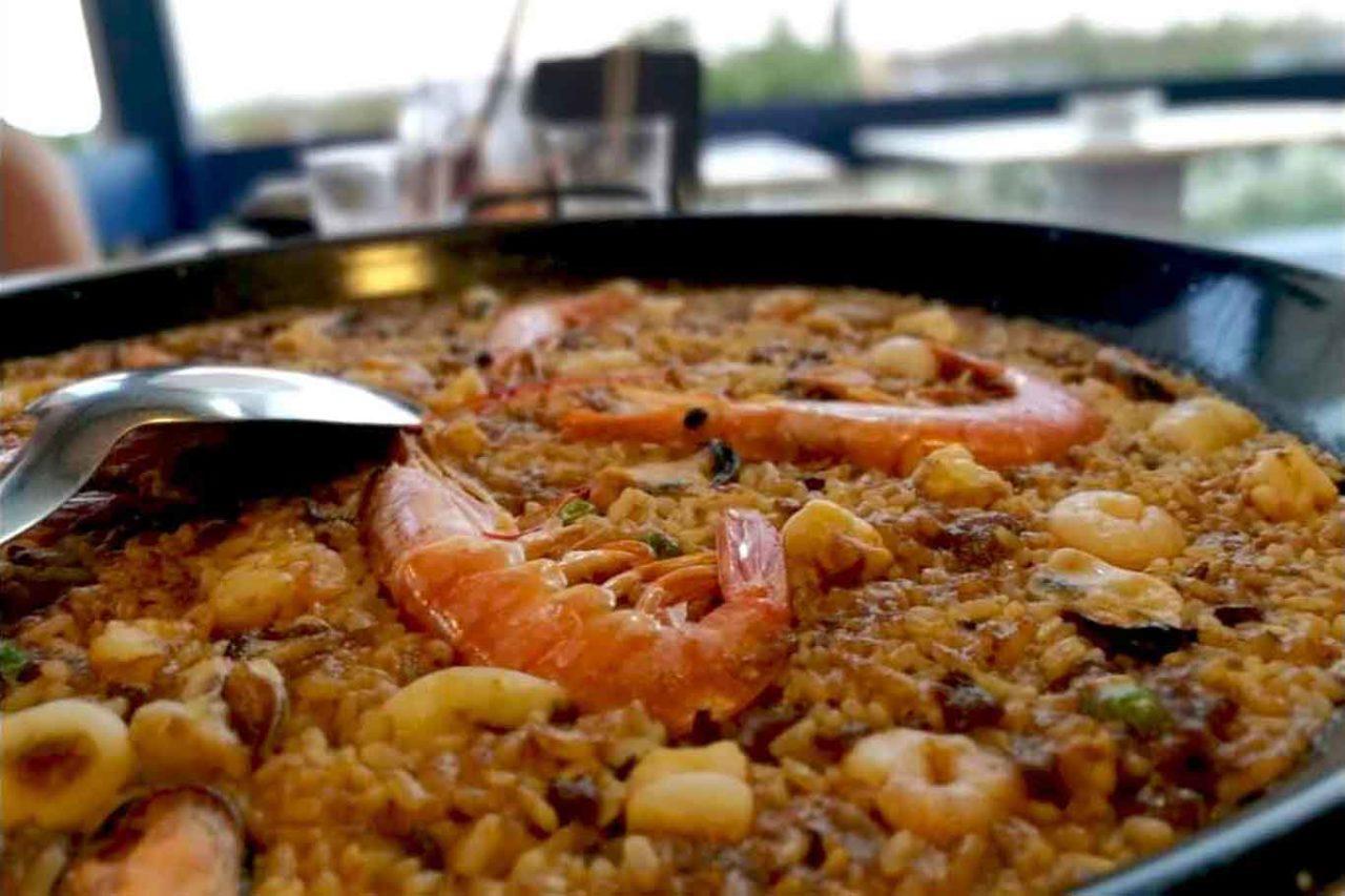 paella de marisco Vela Mayor ristorante di mare Ionio