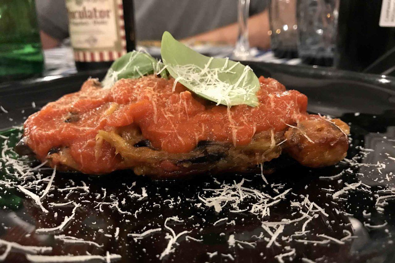 parmigiana melanzana pietra Acciaroli Cilento
