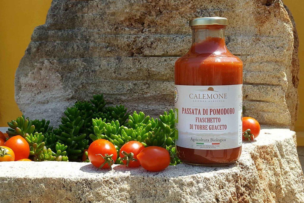 passata di pomodoro fiaschetto di Torre Guaceto Calemone