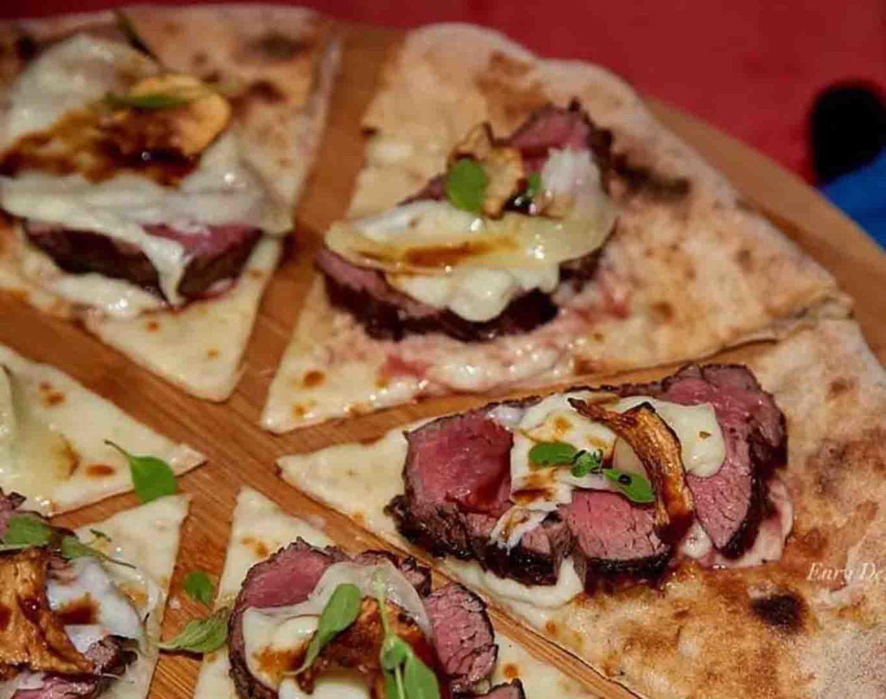pizza con la carne Maglione Daniele Gourmet Avellino