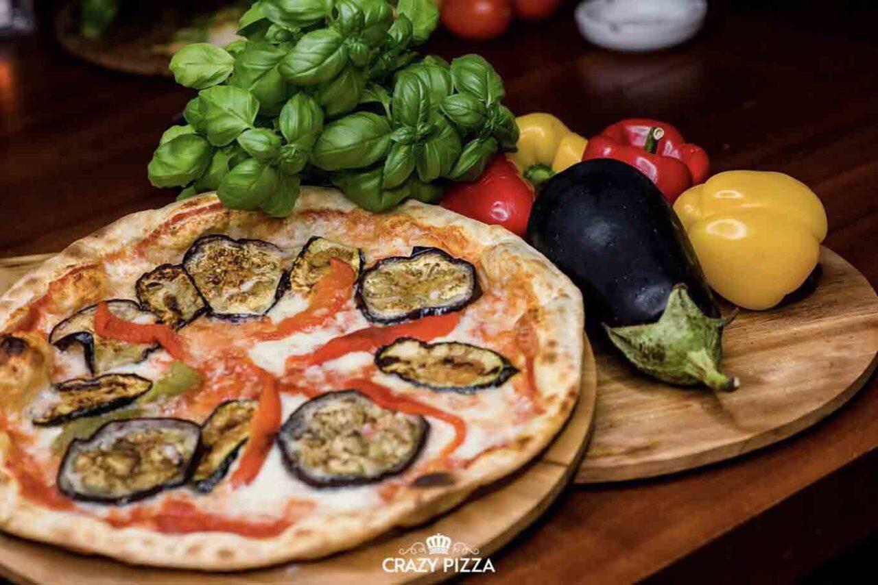 pizza melanzane Crazy Pizza Flavio Briatore