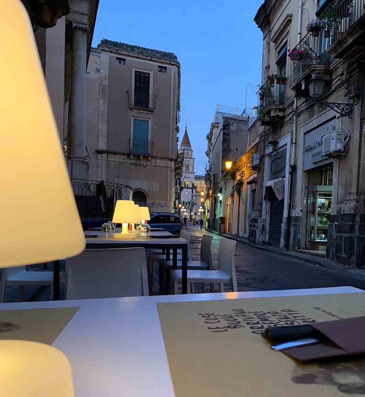 pizzeria Frumento Acireale Catania dehors