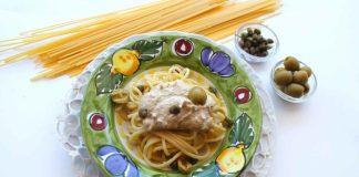 spaghetti con crema di tonno
