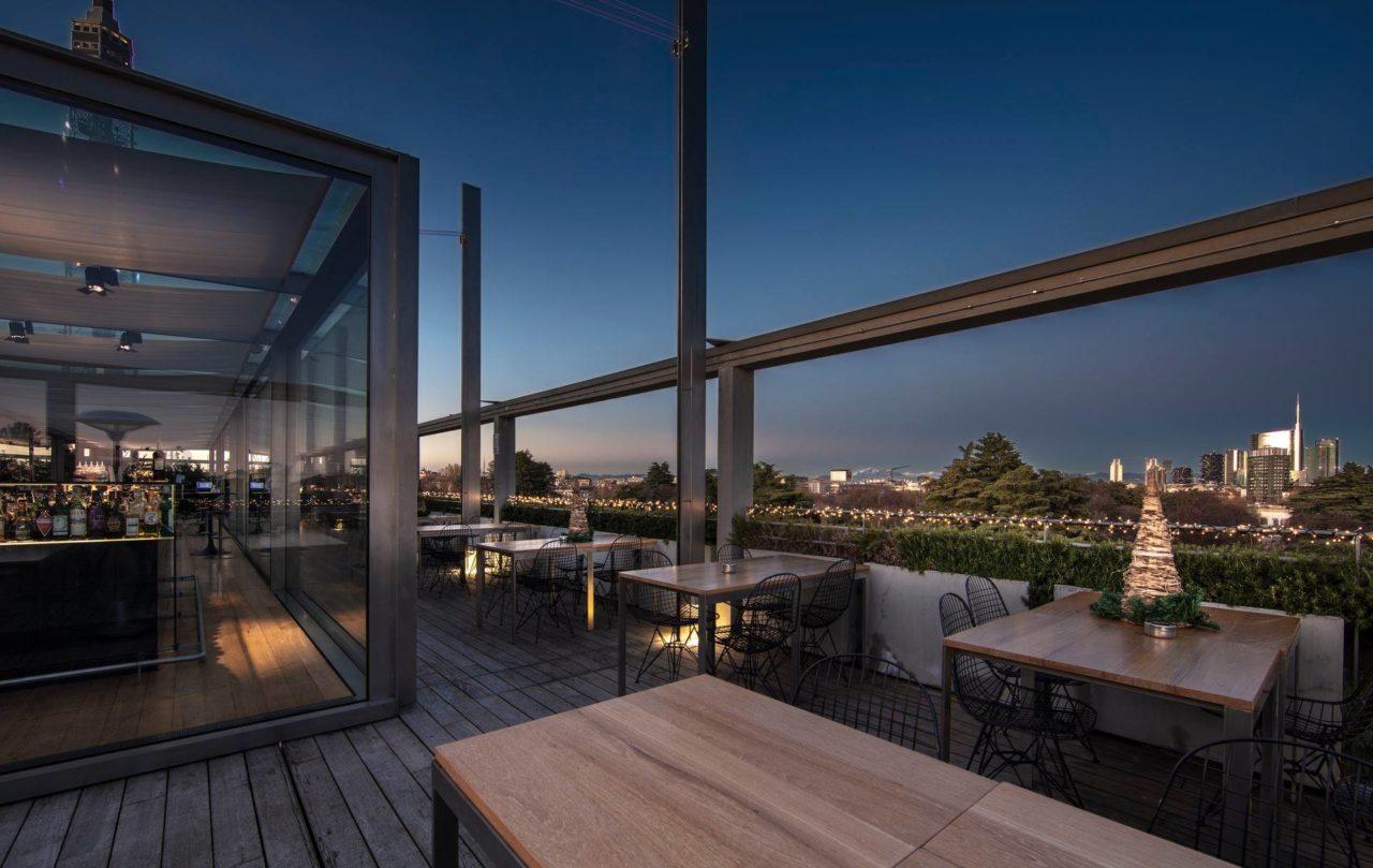 Terrazza Triennale. Osteria con Vista, milano, panorama