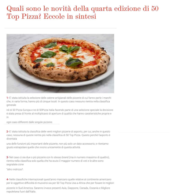 La guerra delle pizzerie per la classifica Top 50 Pizza 2020