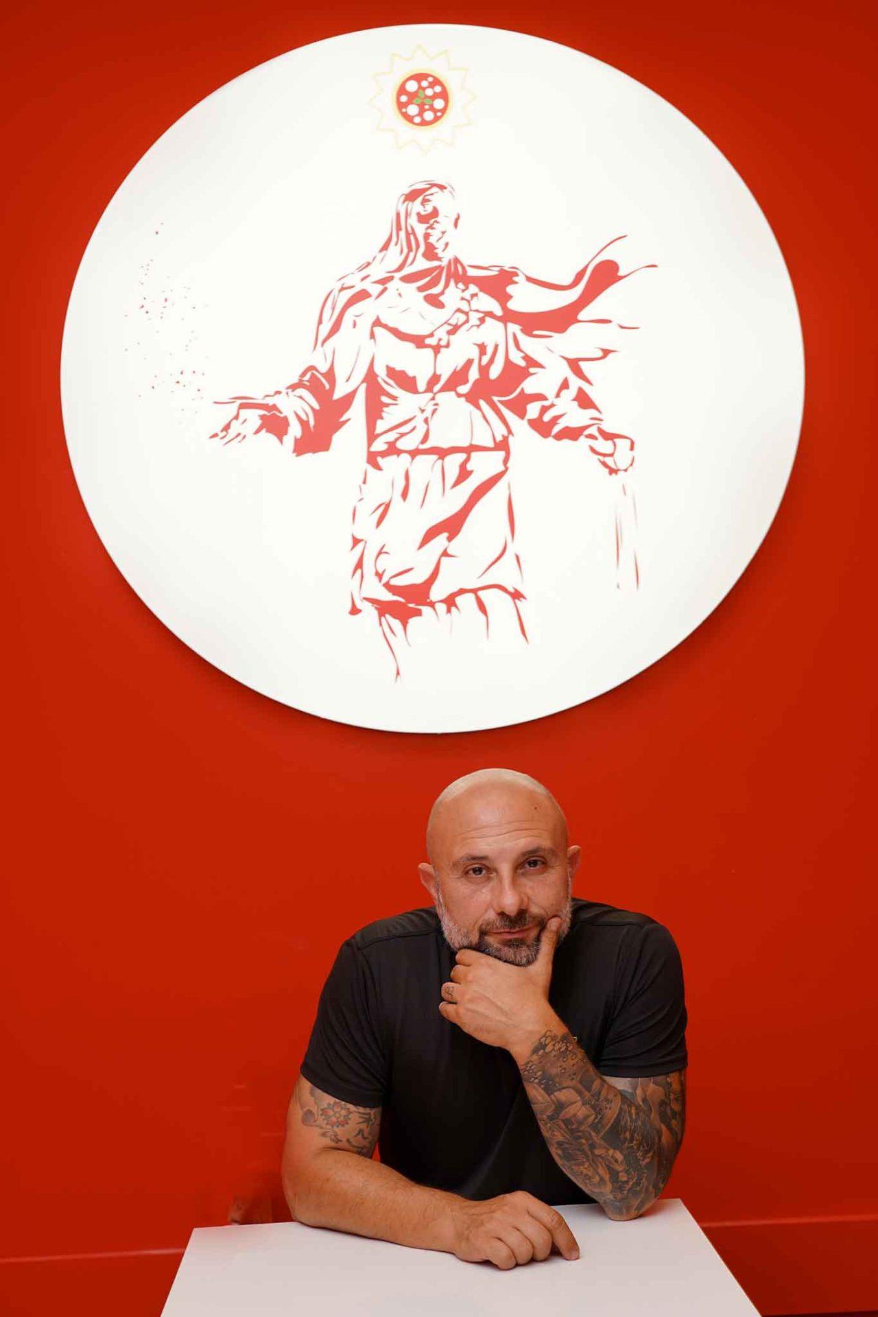 Giuseppe Pignalosa a Gina Pizza Portici