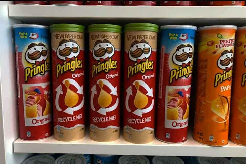 patatine fritte Pringles confezione riciclabile