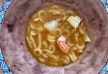 Torre del Saracino ristorante Gennaro Esposito Minestra di pasta mista con pesci di scoglio e crostacei