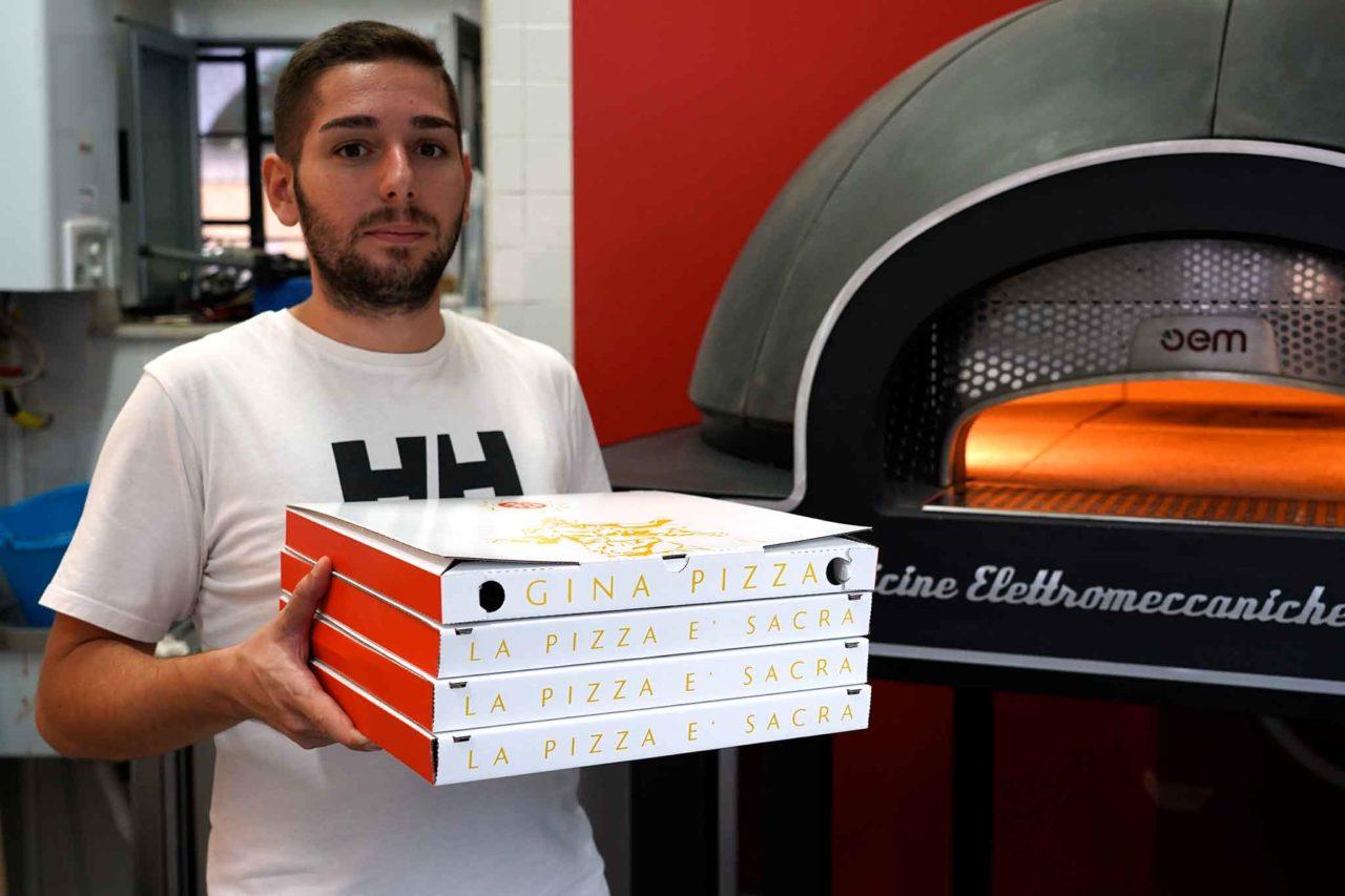 cartoni pizze Gina Pizza forno Portici