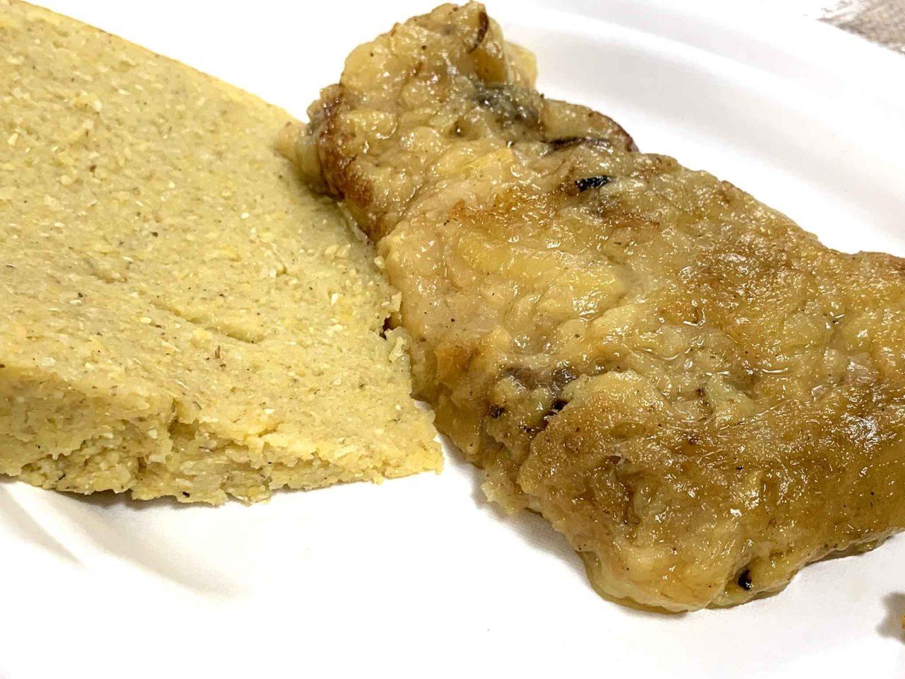 frico con polenta integrale