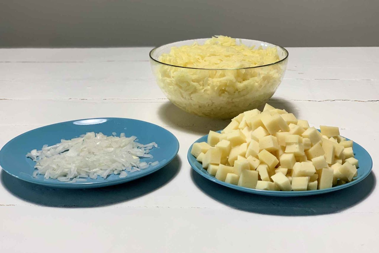 frico ingredienti tagliati
