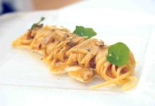 linguine alle vongole e ricci Casa del Nonno 13 ristorante Mercato San Severino