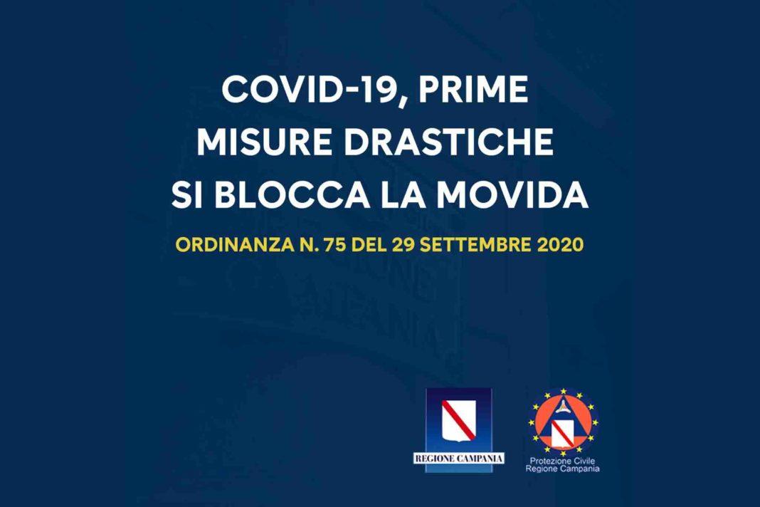 ordinanza Campania De Luca anti movida settembre 2020