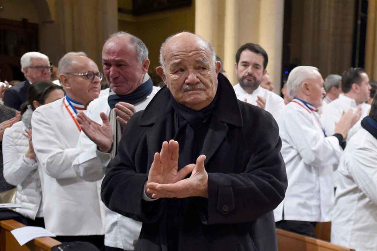 Pierre Troisgros al funerale di Paul Bocuse