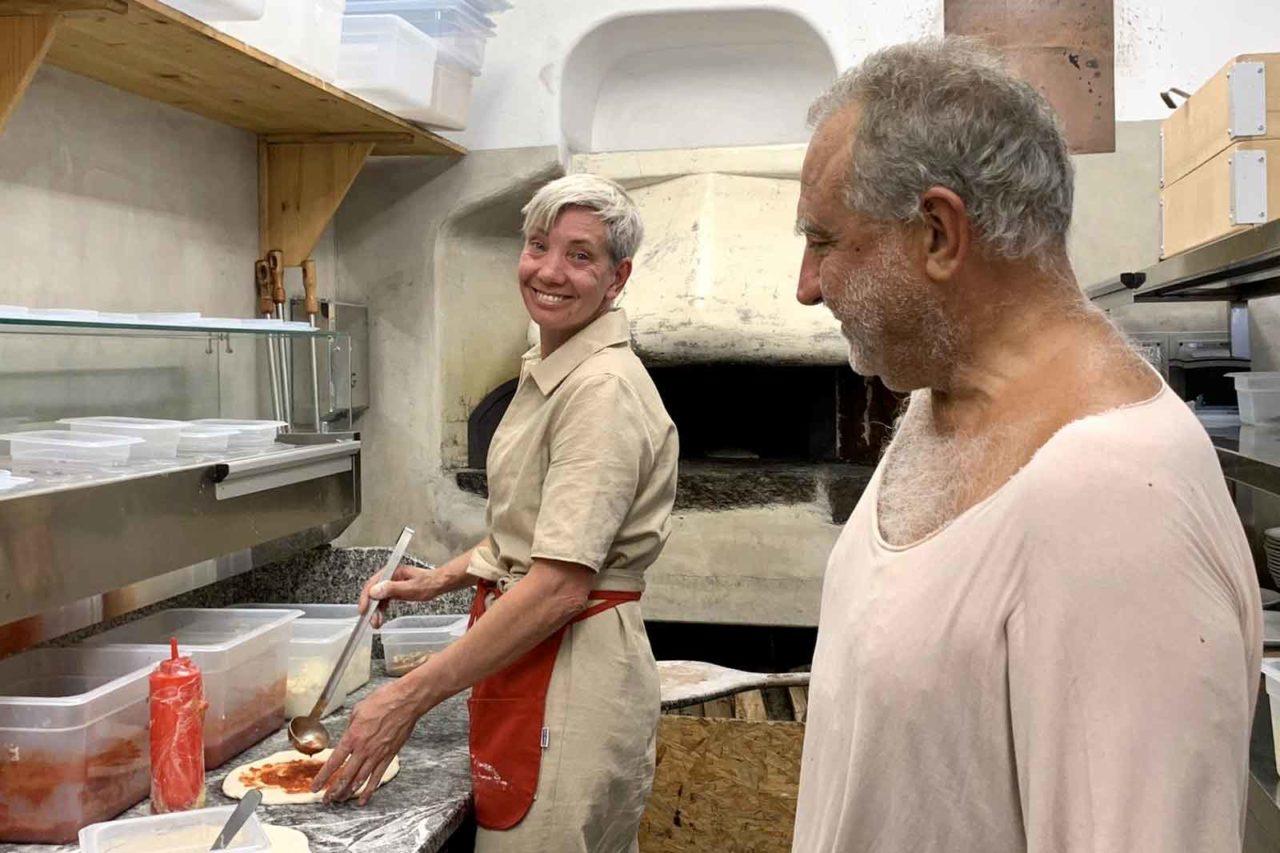 Bridget Hugo e Giuseppe Mascoli pizzeria Franco Manca