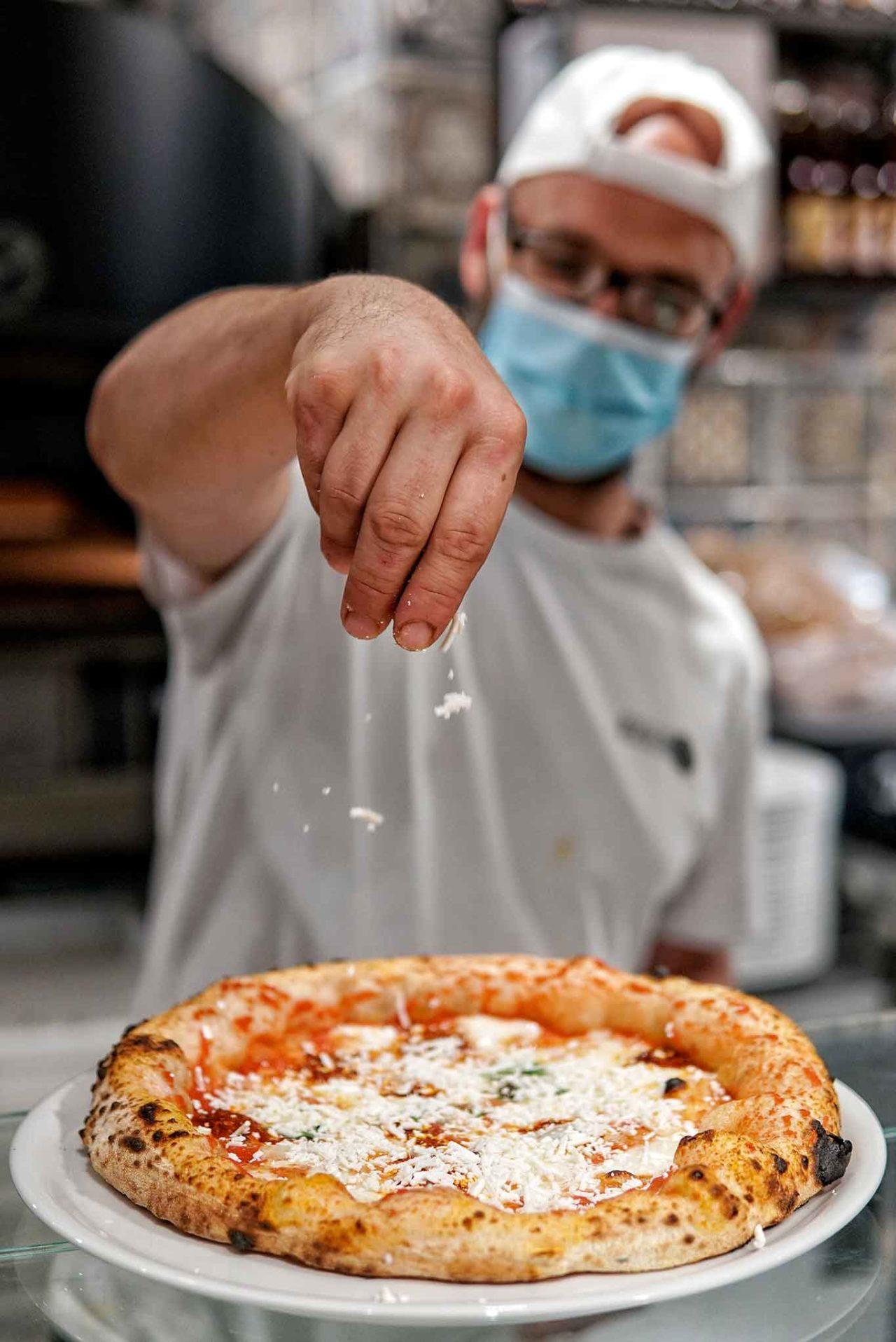 pizza cilentana cacioricotta pizzeria Da Zero Firenze