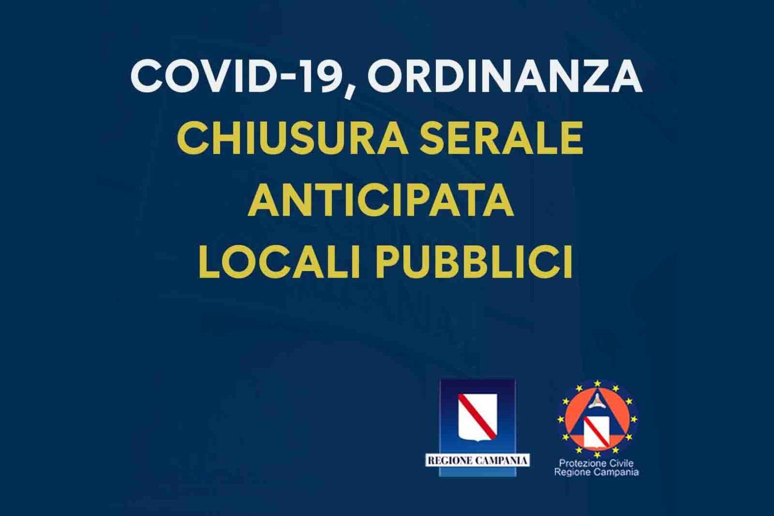 chiusura locali Campania ordinanza De Luca ottobre 2020