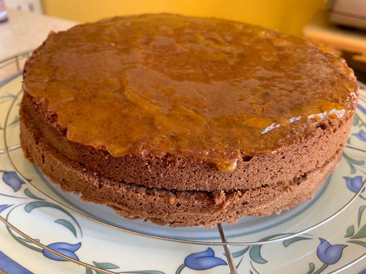 Torta Sacher confettura albicocche